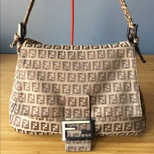 Authentic Fendi Zucca Mama Bag!